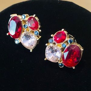 St John Crystal Post Earrings.